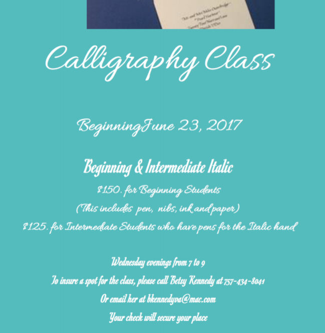 betsy calligraphy class 2